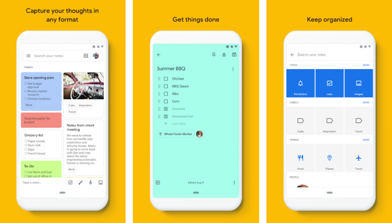 Google Keep- Best Notes Apps Android