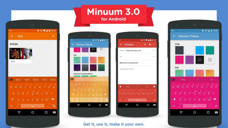 Minuum- Best Ad-free Keyboard Apps for Android
