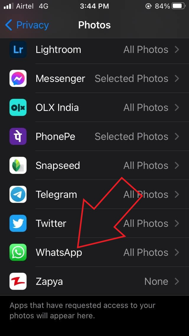 WhatsApp Images Not Showing in Gallery iOS