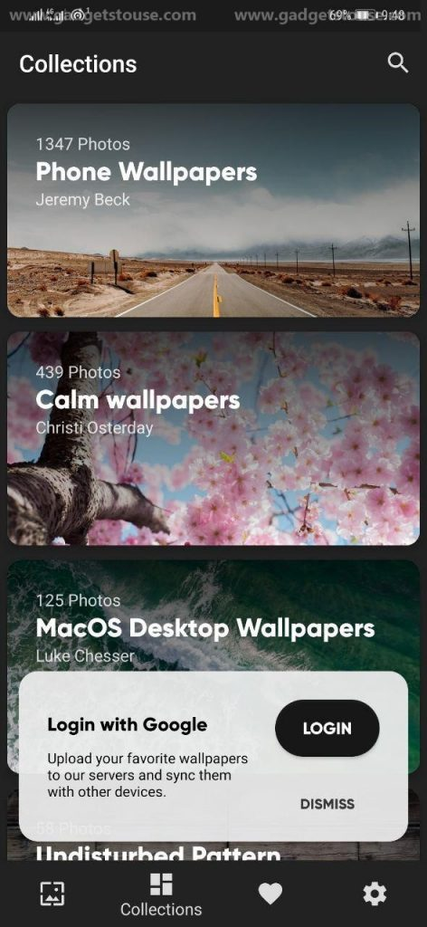 Ad-free Wallpaper Apps for Android- Walpy