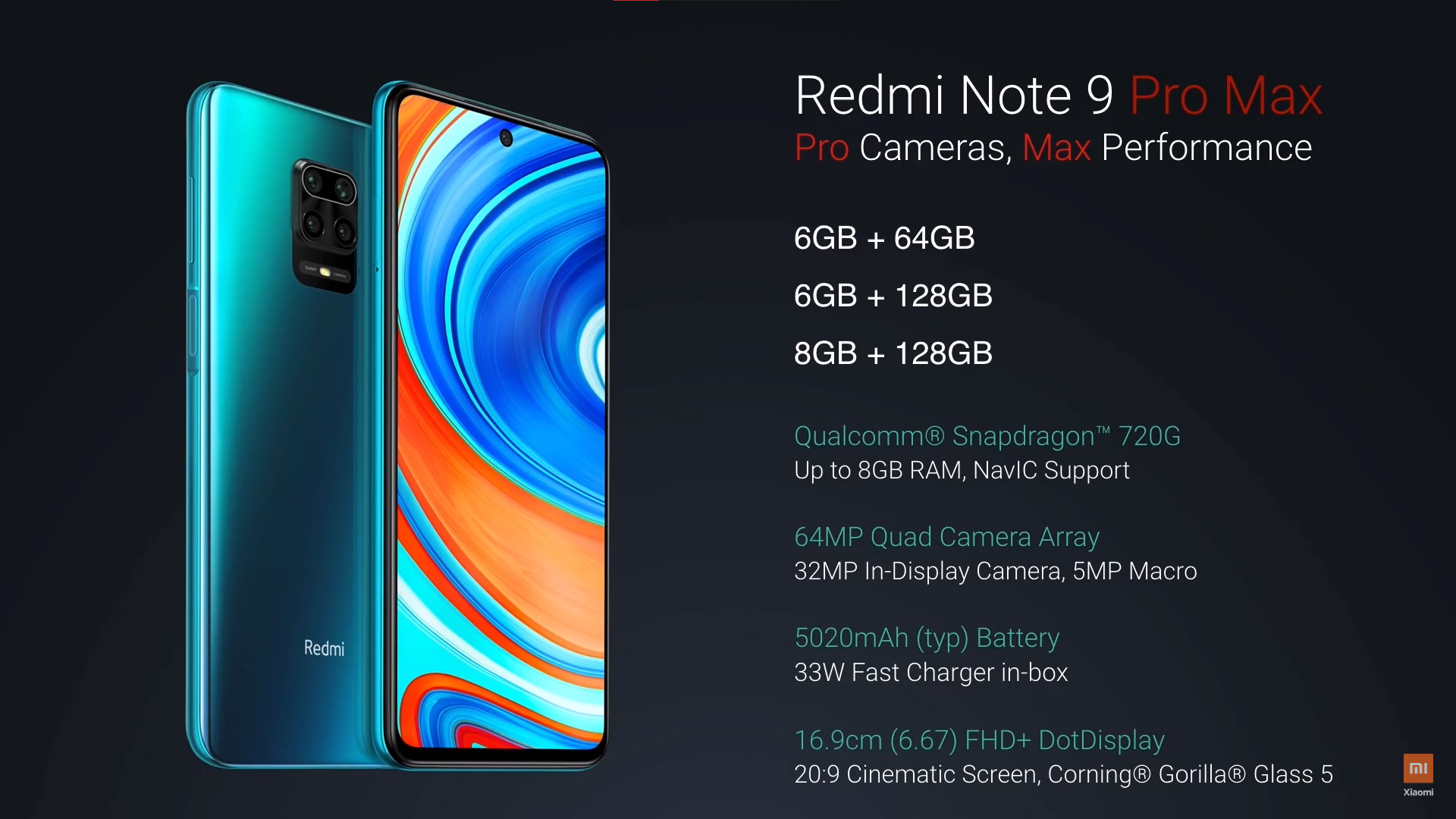 Redmi Note 9 Pro Redmi Note 9 Pro Max Launched In India Starting At Rs 12 999 Full Specs Availability Gadgets To Use