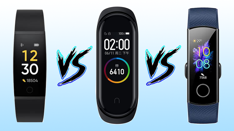 Realme Band vs Mi Band 4 vs Honor Band 5: Which one to Buy?