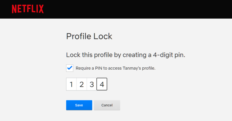 Enable PIN Lock on Your Netflix Profile