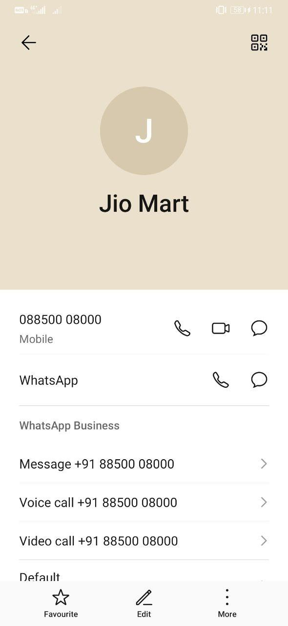 Order from JioMart WhatsApp