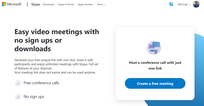 Use Skype Meet Now for Video Calling