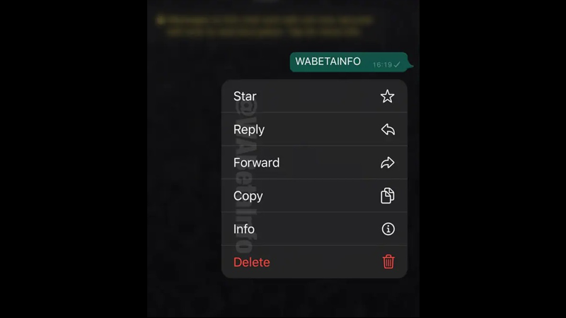 Upcoming WhatsApp Features- Context Menu