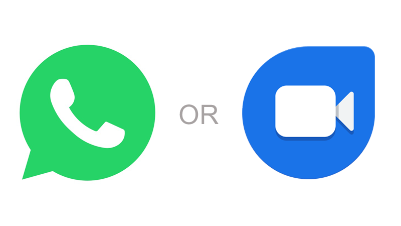 WhatsApp vs Google Duo Video Calling