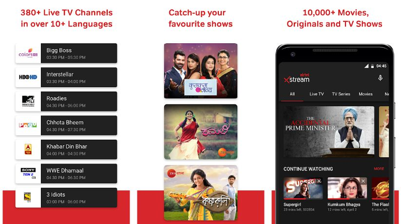 Airtel Xstream- Best Apps to Watch Live TV on Android