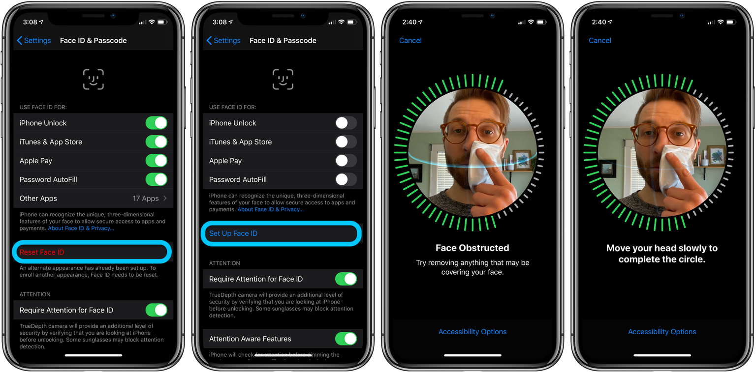 Use Face ID with mask to unlock iPhone
