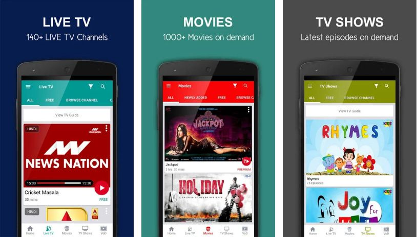 nexGTv- Best Apps to Watch Live TV on Android