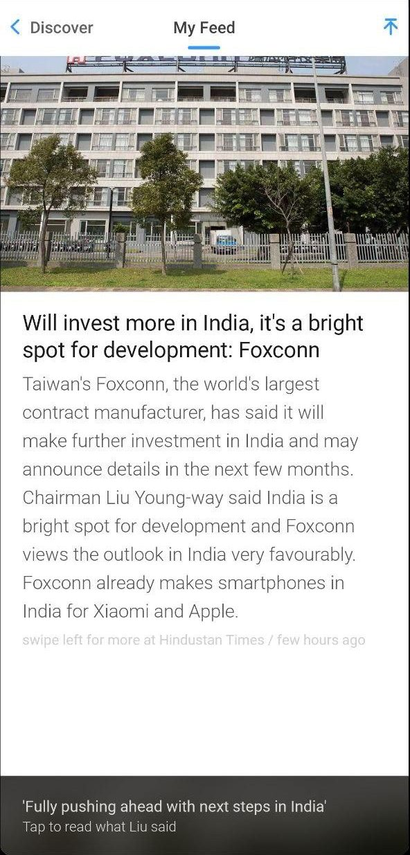 InShorts- Indian Alternatives to UC News