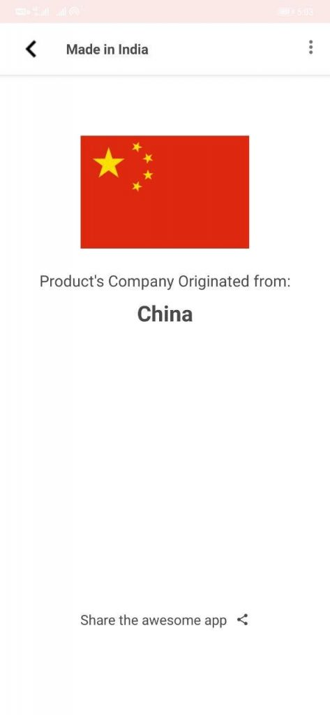 Find if a Product is Chinese or Non-Chinese