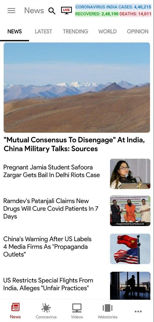 NDTV- Indian News App