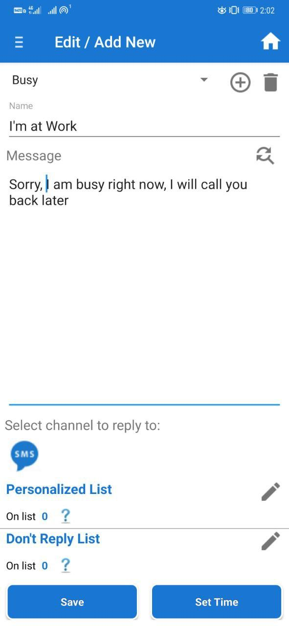 Send Automatic Replies to Messages on Android