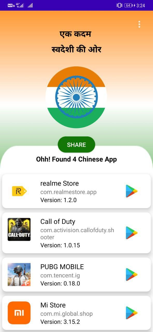 Chinese Apps Detector