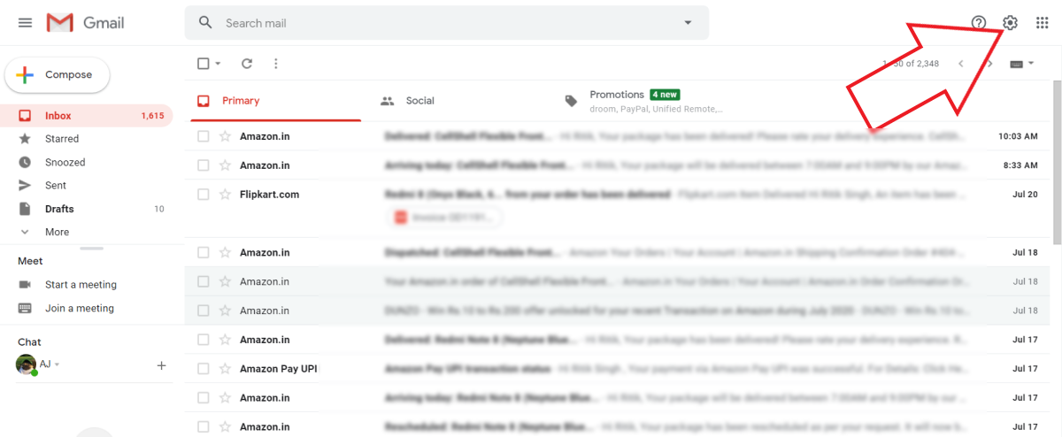 Keep Unread Emails On Top in Gmail PC