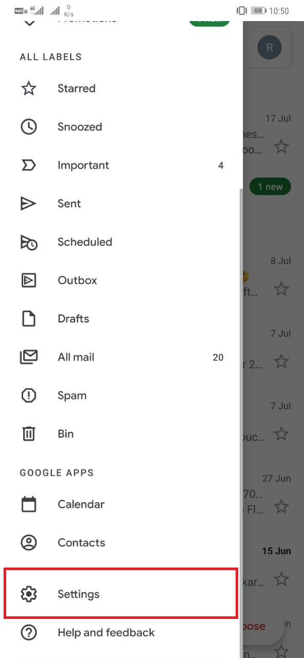 Keep Unread Emails On Top in Gmail App