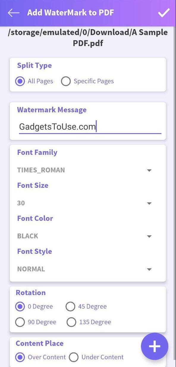 Add Watermark To PDF on Android and iOS
