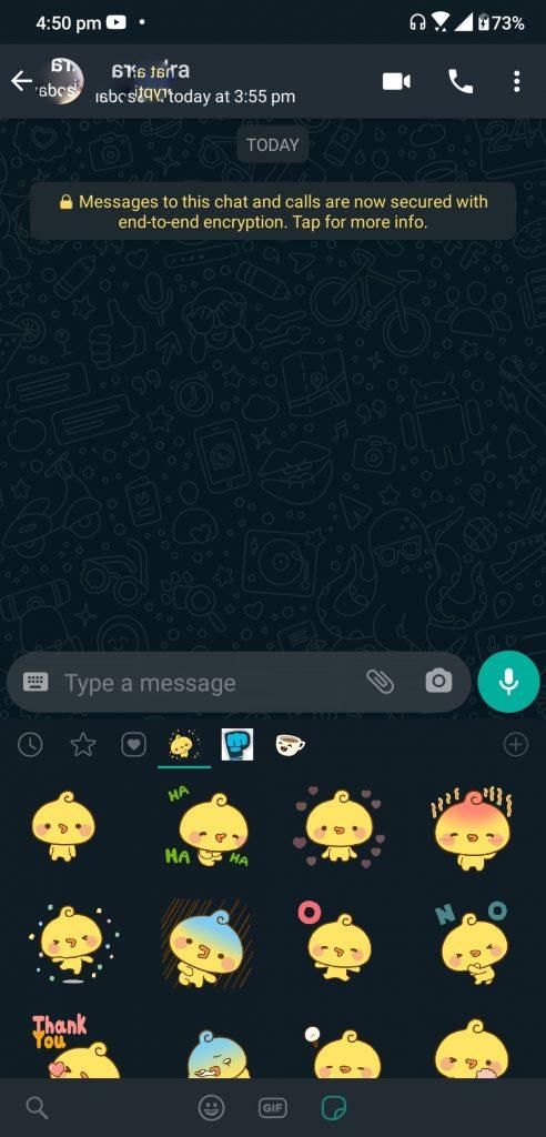 Como enviar figuras animadas no WhatsApp