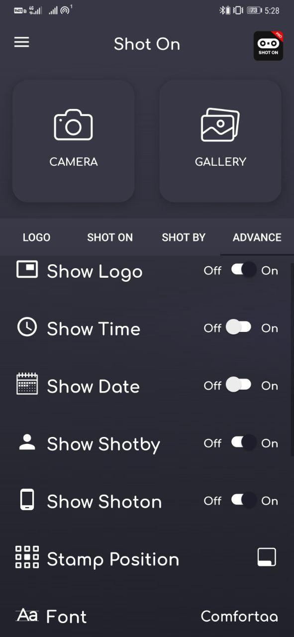 Shot On- Automatically Add 'Shot On' Watermark in Android