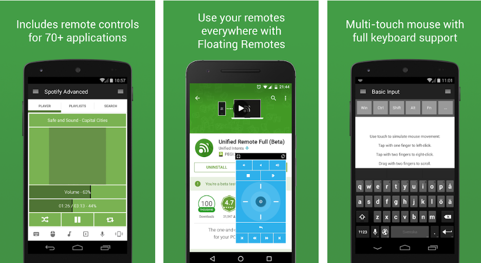 Unified Remote- - Use Your Phone As Remote Mouse With Your PC