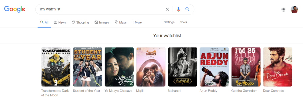 Your Watchlist Google