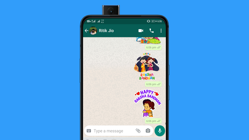 Download and Send Happy Rakhi Stickers on WhatsApp for Android & iOS