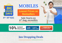 Best Smartphone Deals in Flipkart Big Saving Days Sale