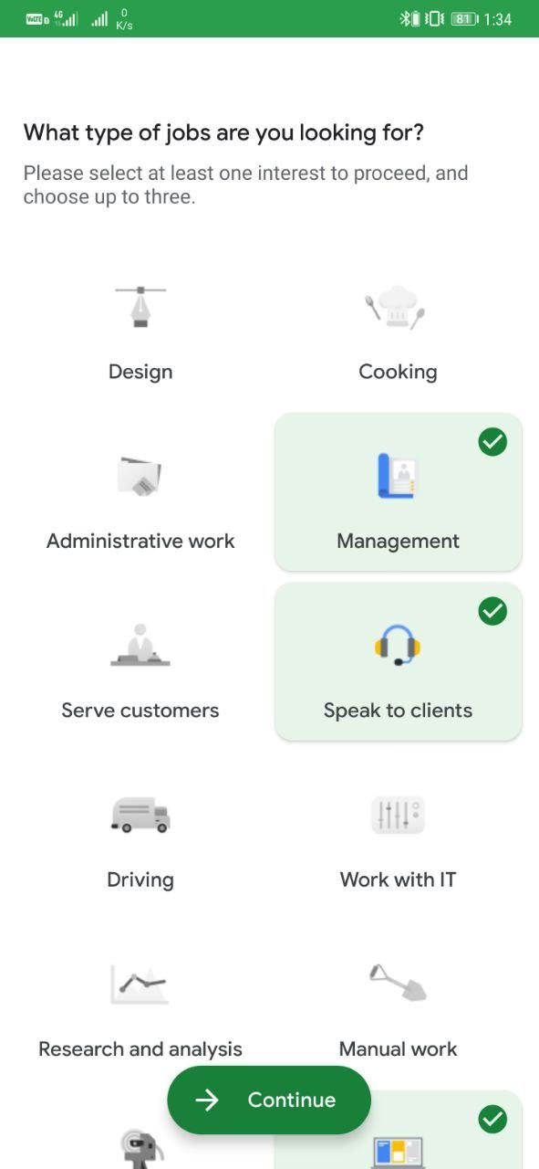 Get Jobs Using Google Kormo App