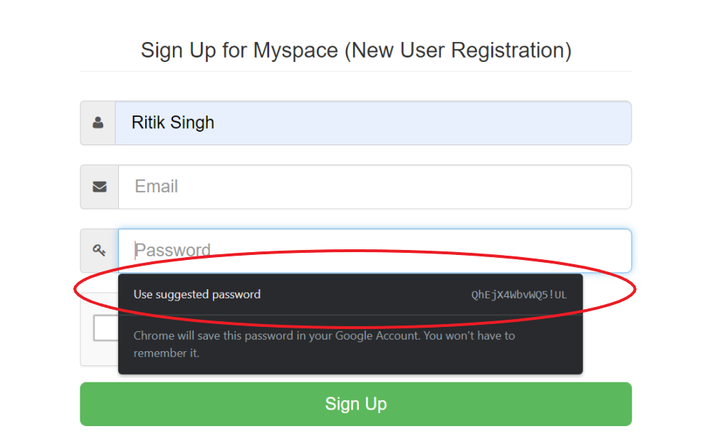 Generate Secure Passwords Using Chrome