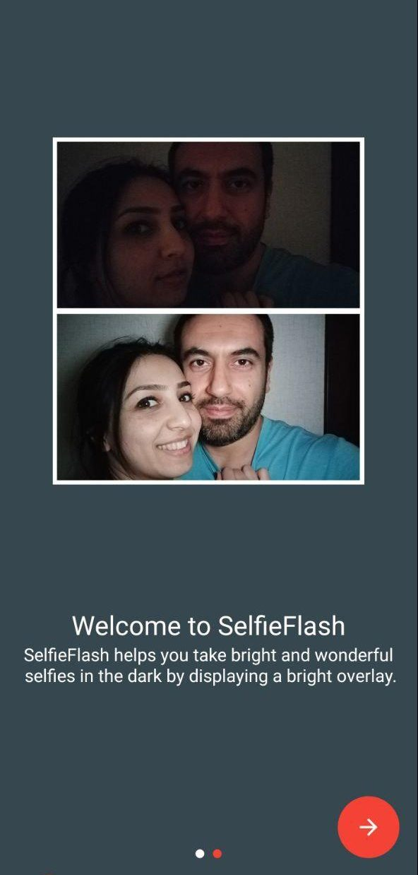 Use Your Phone Screen as Flash to Click Bright Selfies in Dark