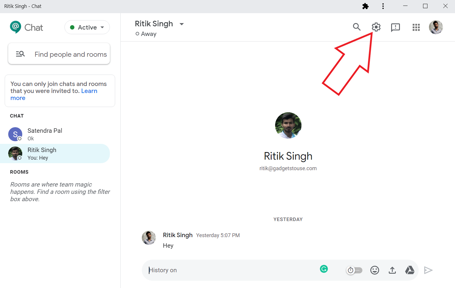 Enable or Disable Smart Replies in Google Chat