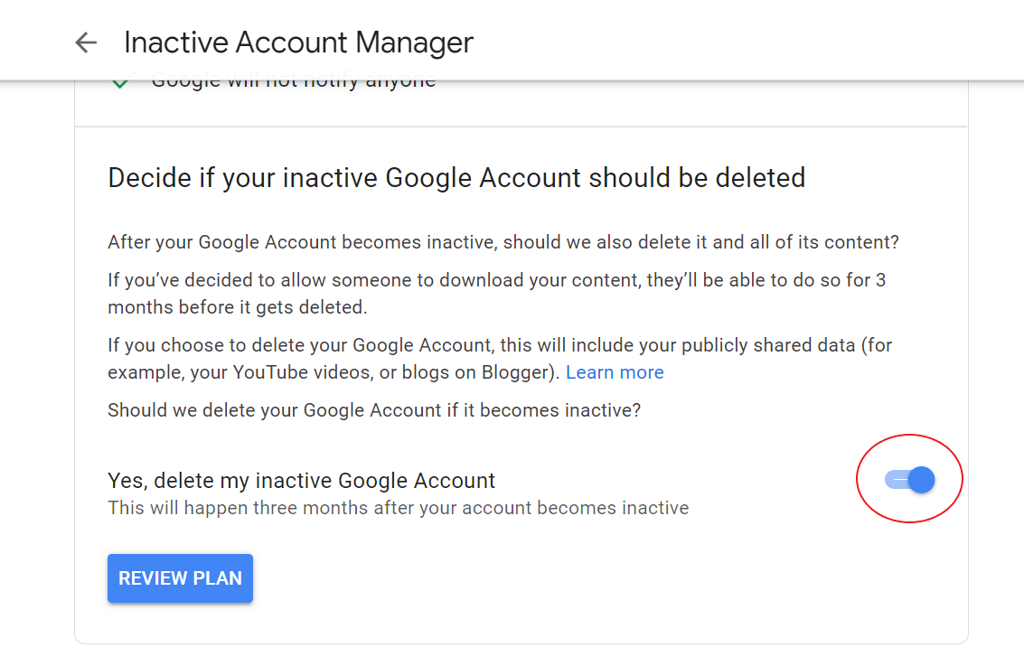 Auto-Delete Your Google Account After You Die