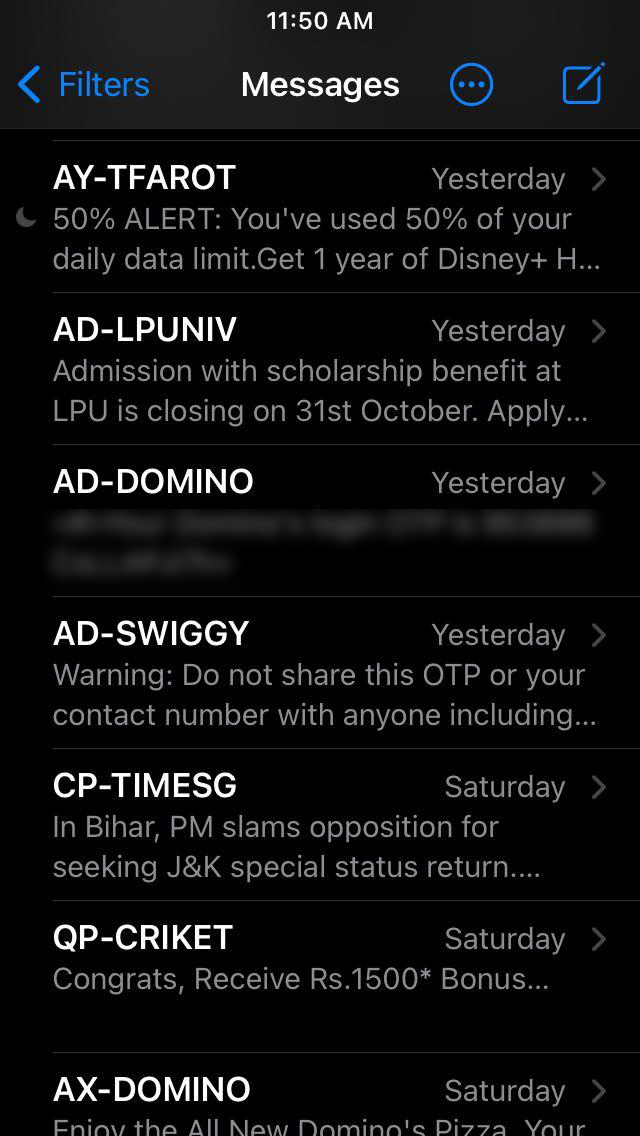 Mute Chats in Messages App on iPhone and iPad