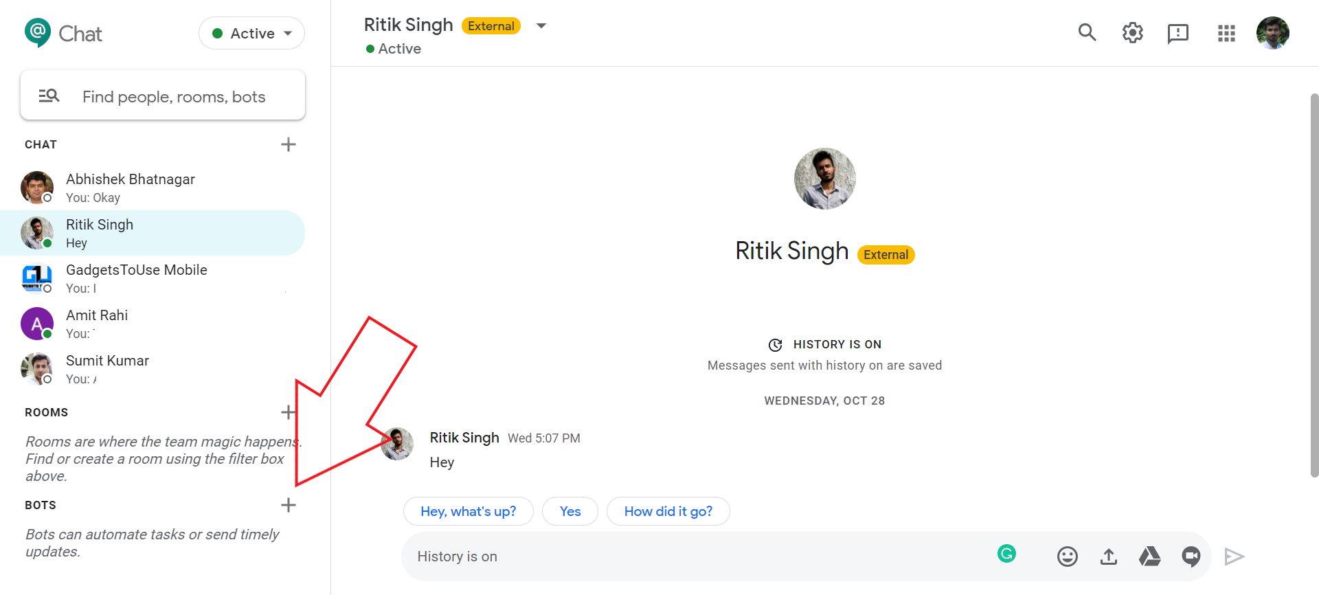 Use Bots in Google Chat