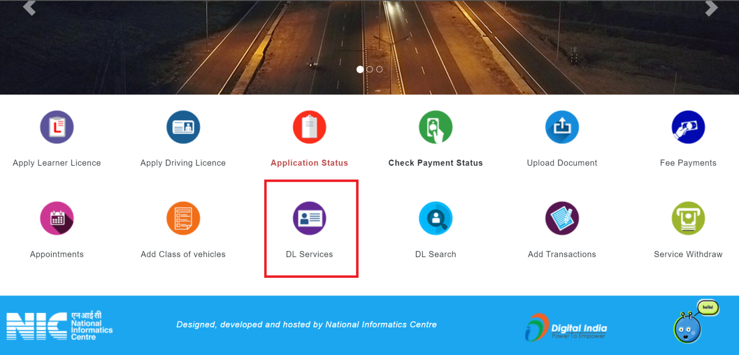 Renew Driving License Online India