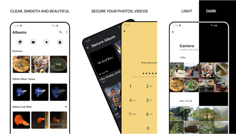 1Gallery- Gallery Apps With Option to Hide Photos On Android