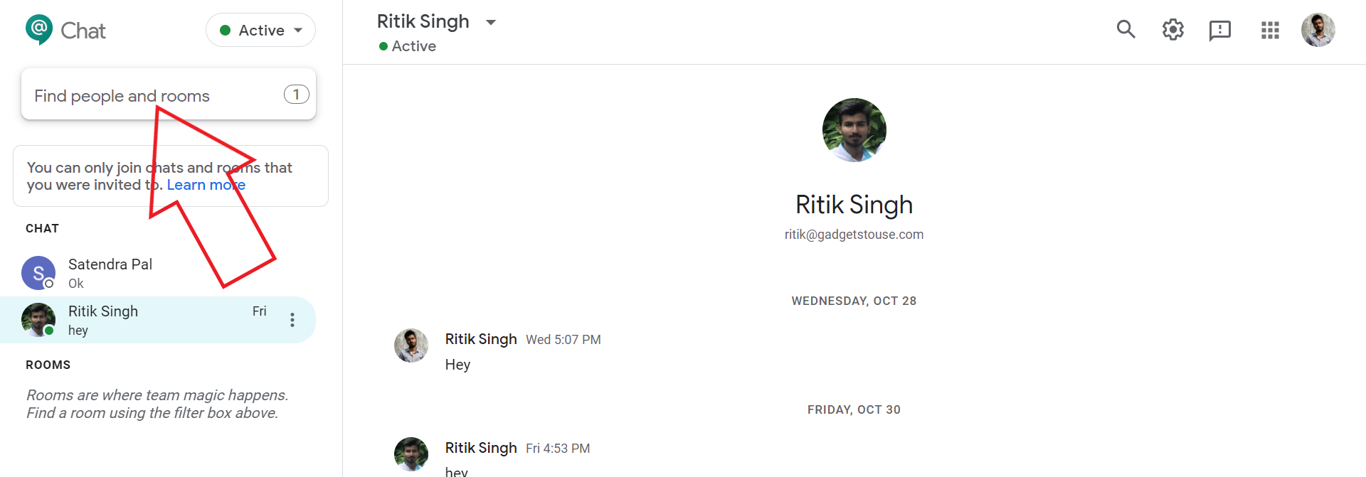 Join Room in Google Chat