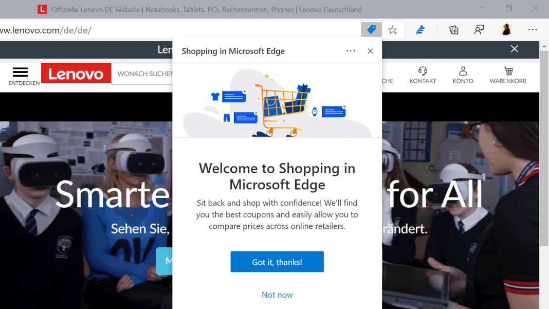 How to Enable or Disable Shopping Feature in Microsoft Edge