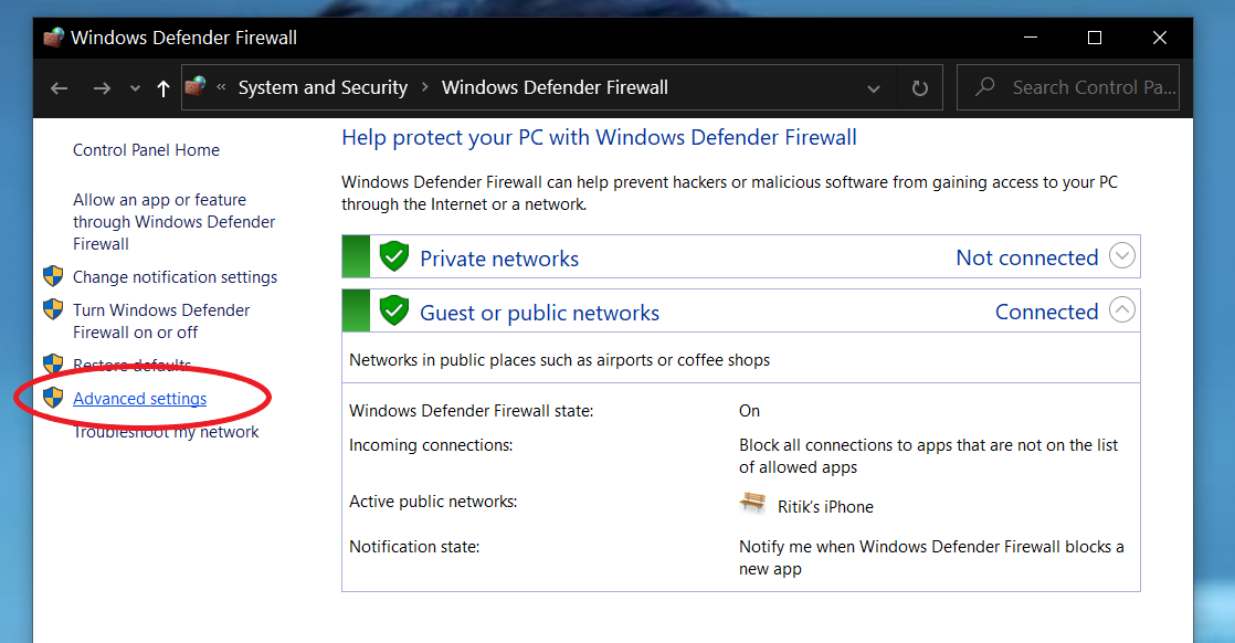Block an App from Accessing the Internet on Windows 10