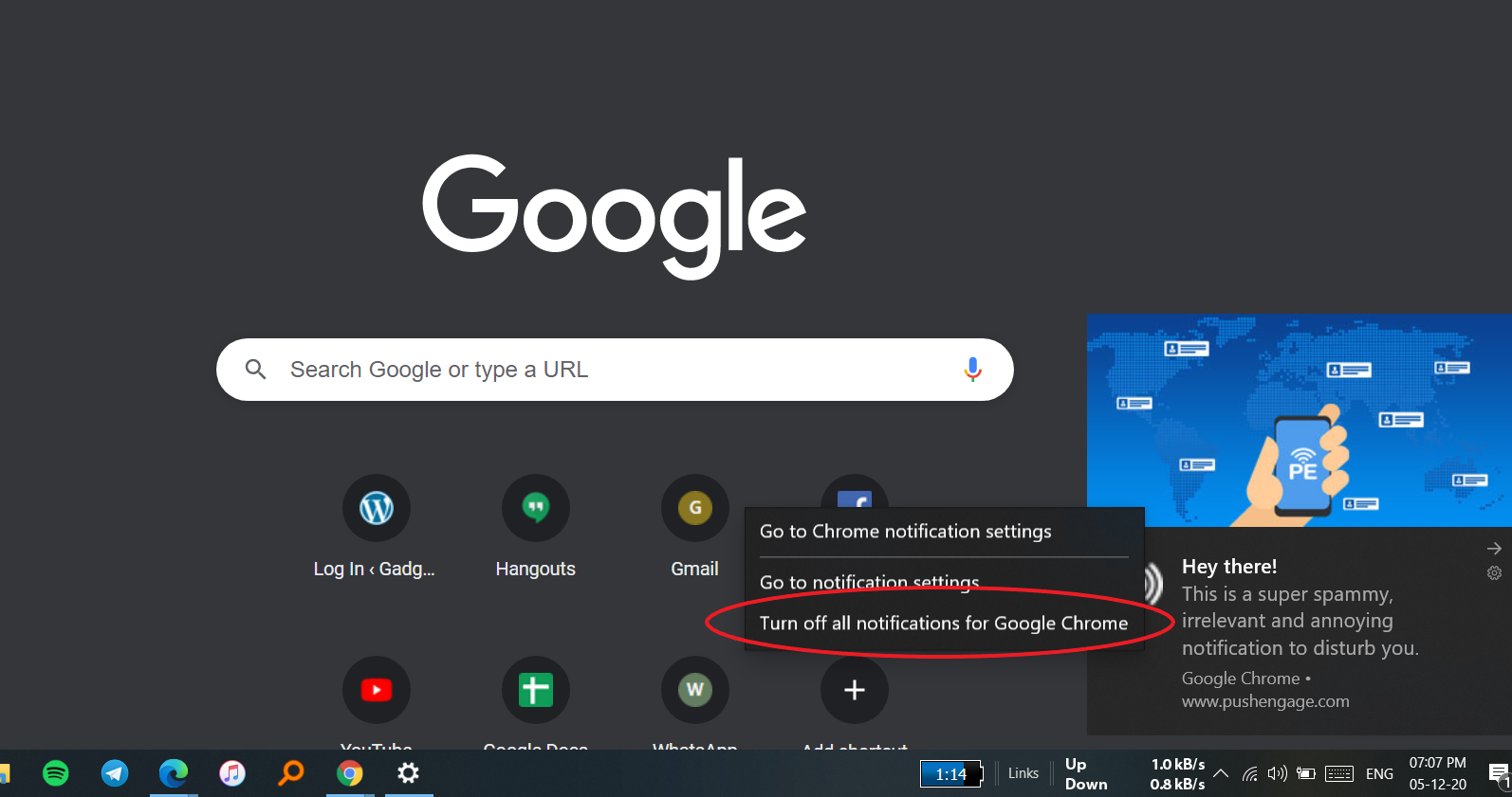 How to Stop Notifications from Google Chrome