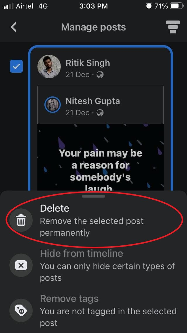 How to Delete Multiple Facebook Posts