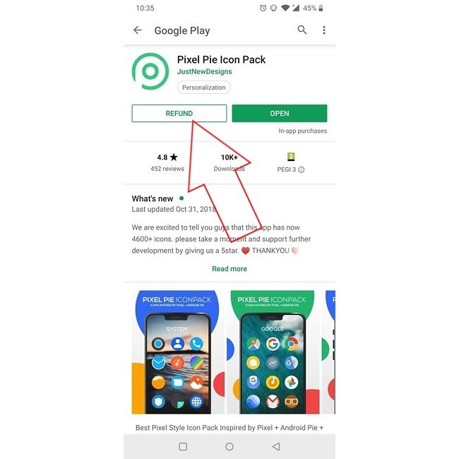 Get Refund Play Store