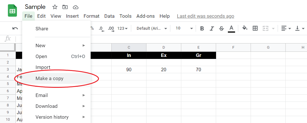 Delete Google Sheets Revision History