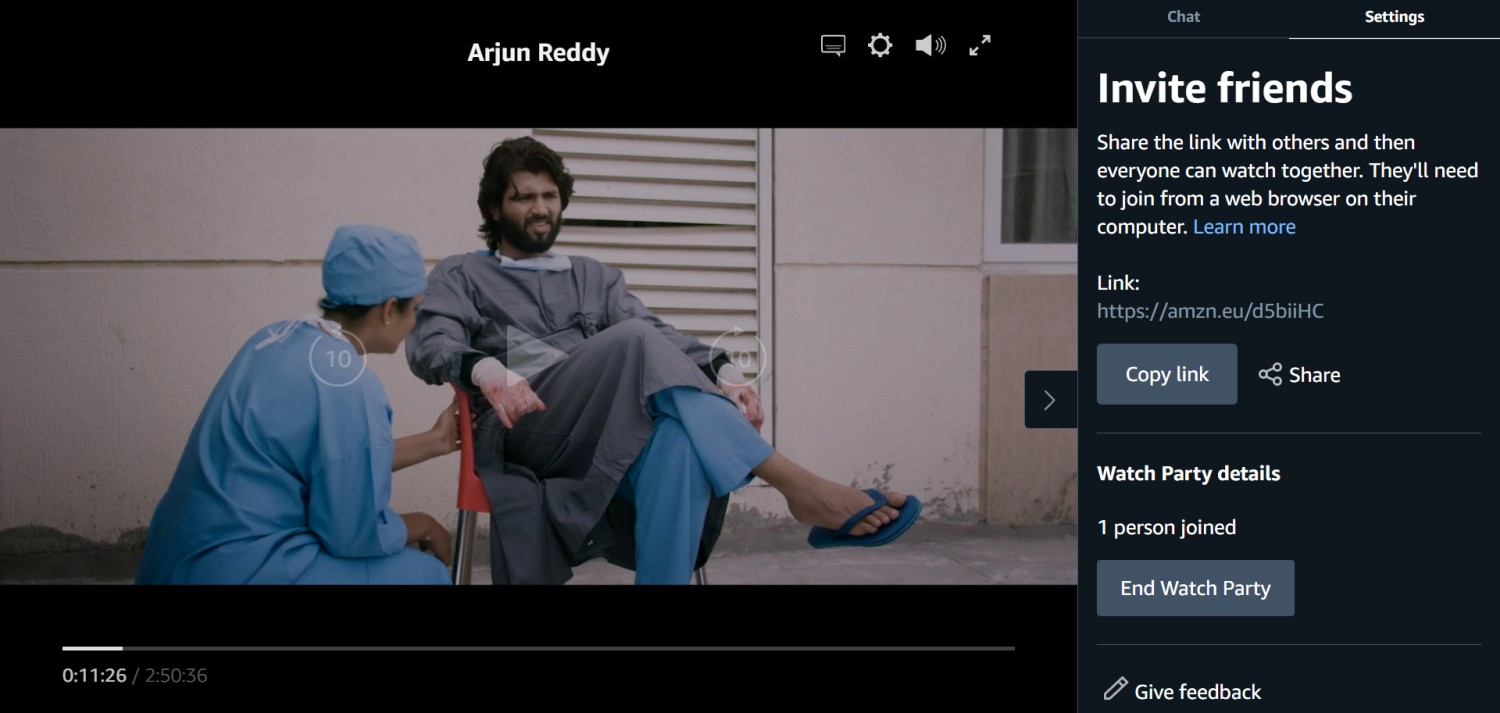 Use Prime Video Watch Party Feature in India