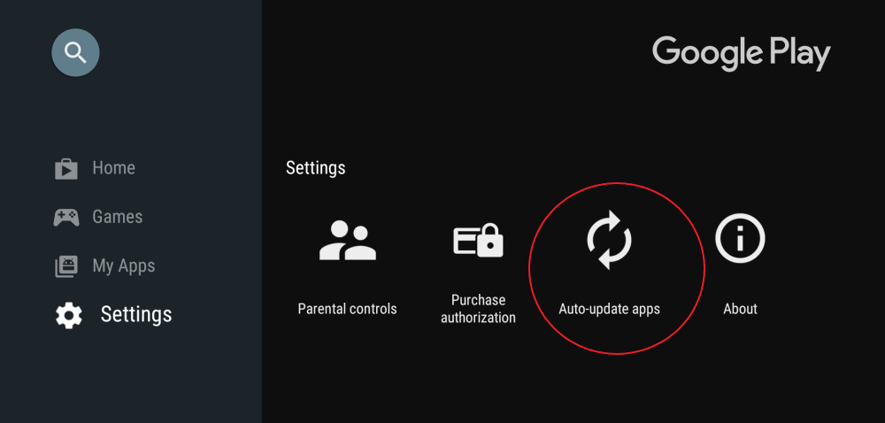 Turn Off Automatic App Updates Android TV