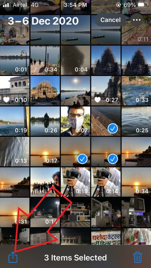 Hide Photos and Videos on iPhone