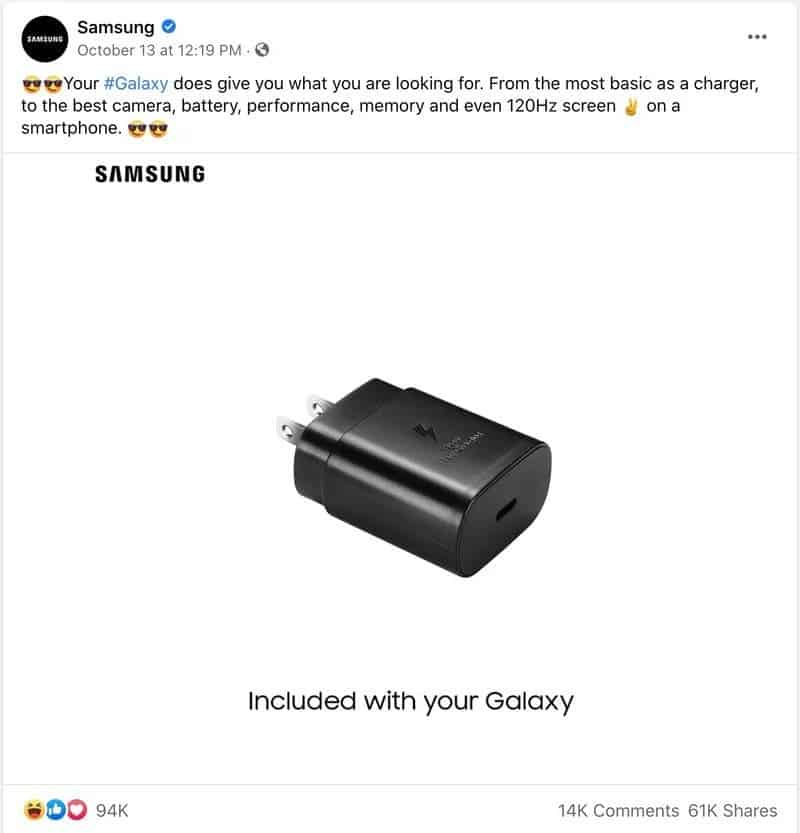 Samsung Trolling Apple for No Charger Move