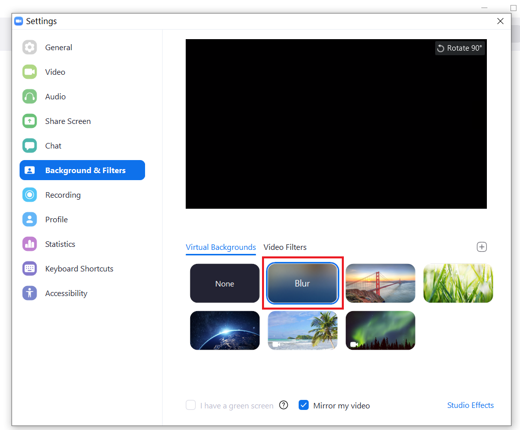 Blur Your Video Background in a Zoom Video Call