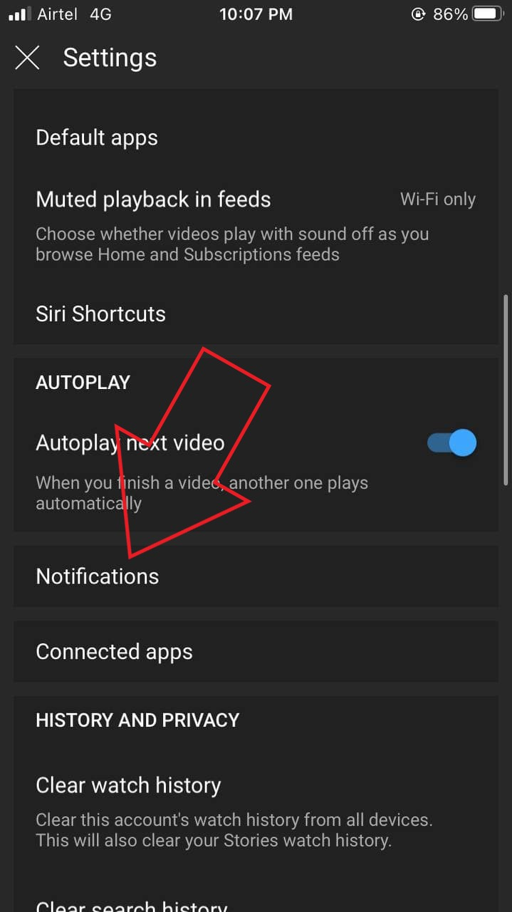 Fix YouTube Notifications Not Working on iPhone